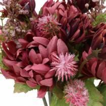 Krysantemumbukett blanding lilla 35cm