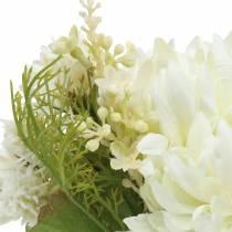 Chrysanthemum bukettblanding hvit 35cm