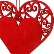 Hjerte å henge, bryllupsdekorasjon, anheng hjerte, hjerte dekorasjon, Valentinsdag 12stk