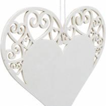Hjerte dekorasjon å henge, bryllup dekorasjon, hjerte anheng laget av tre, hjerte dekorasjon, Valentinsdag 12stk