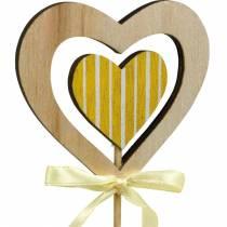Dekorativ plugg sommerfuglblomst og hjerte, vårdekorasjon, blomsterplugg, Valentinsdag 9stk
