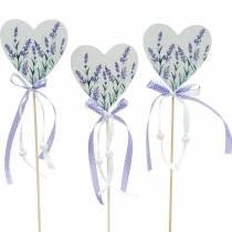 Lavendelhjerte, sommerdekorasjon, hjerte å holde fast med lavendel, Middelhavsdekorasjon 6stk