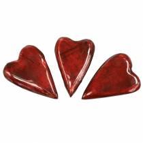 Mangotre hjerter glasert rød 6,2–6,6 cm × 4,2–4,7 cm 16 stk