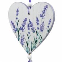 Hjerte med lavendelmotiv å henge, bryllup, middelhavssommer dekorasjon, Valentinsdag, lavendel hjerte 4stk