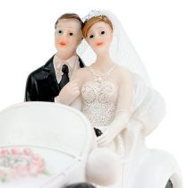 Bryllupsfigur brudepar i konvertible 15cm