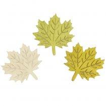 Maple blader for sprinkling høstfarger assortert 4cm 72stk