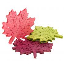 Maple leaf tre for spredning av forskjellige farger 4cm 72stk