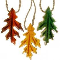Dekorative blader tre å henge Fargerike høstdekorasjoner 6,5 × 4 cm 12 stk