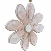 Pastell dekorative blomster, sommerblomster, treblomster, blomsterdekorasjoner for henging Ø12,5cm 3stk