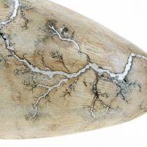 Påskeegg mangotre naturlig hvitvasket påskedekorasjon tre H16cm