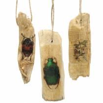Dekorasjonshenger insekter tre 9-13cm 36stk