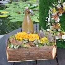 Treskrin for planting, plantepotte med håndtak, blomsterkasse med bark 45,5cm