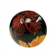 Dekorativ tresopp høstløv borddekorasjon svart, farget Ø10cm H15cm