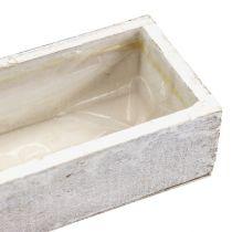 Trebolle for å plante hvit 30cm x 9cm x 6cm