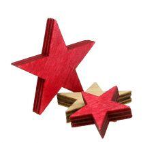 Trestjerner 3-5cm naturlig / rød 24stk