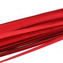 Trestrimler flettet bånd rød 95cm - 100cm 50p