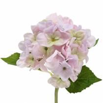 Kunstig hortensia lys lilla 36cm