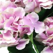 Silkeblomster hortensia i en gryte lilla 35cm