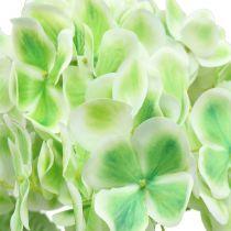 Hortensia kunstig grønn, hvit 68cm