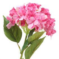 Hortensia stor kunstig rosa L110cm