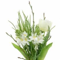 Kunstig bukett med hyasinter og tulipaner 34cm