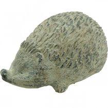 Dekorativ figur pinnsvin 22cm hagedekorasjon høst antikk grønn 20 × 12 × H10cm