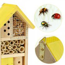 Insekthotell gul tre insekt hus hage hekkekasse H26cm