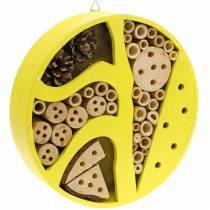 Insekthotell rundt gult Ø25cm