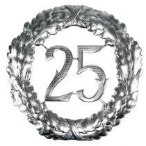 Jubileum nummer 25 i sølv Ø40cm