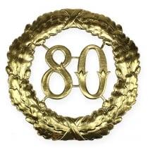 Jubileum nummer 80 i gull Ø40cm