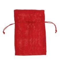 Burlap sekker rød 16cm x 24cm 10stk
