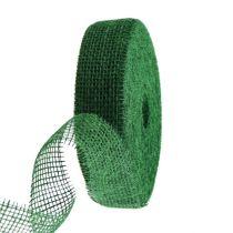Jutebånd mørkegrønt 5cm 40m