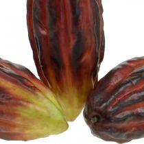 Kakao frukt kunstig dekor butikkvindu lilla-grønn 17cm 3stk