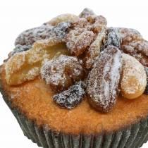 Muffins med nøtter kunstige 7cm 3stk