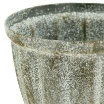 Beker antikk utseende grå Ø9cm H12,6cm