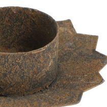 Plug-in lysestake Ø9cm L8,5cm brun