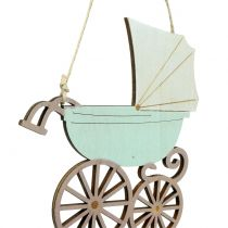 Deco hanger barnevogn rosa / blå 16,5cm x 15cm 6stk