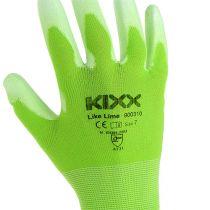 Kixx hagearbeidshansker størrelse 7 lysegrønn, lime