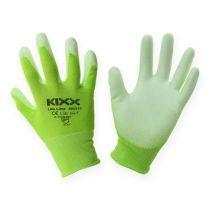 Kixx nylonhagehansker størrelse 8 lysegrøn, lime