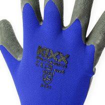 Kixx hagearbeidshansker blå, sort størrelse 10