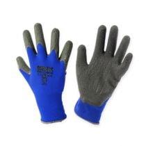 Kixx nylon hagehansker størrelse 8 blå, svart
