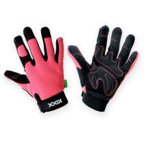 Kixx syntetiske hansker størrelse 7 rosa, svart