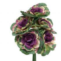 Kunstig kål lilla, grønn 25cm 6stk