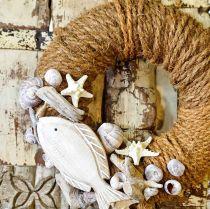 Kokosnøtt garn naturlig Ø4mm 25m