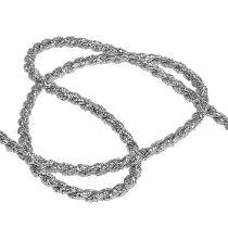 Ledningsbånd sølv 4mm 25m