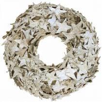 Deco krans stjerner bjørk bark bord dekorasjon advent bjørk Ø25cm