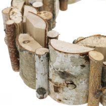 Dekorativ krans av bjørketre kransborddekorasjon Ø30cm H7cm