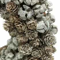Dekorative kransekegler lærk cypress bordkrans jul Ø30cm