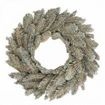 Dekorative kransekegler Adventskrans dørkrans hvit, glitter Ø35cm