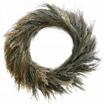 Dekorativ krans tørt gress og korn Ø55cm tørr krans